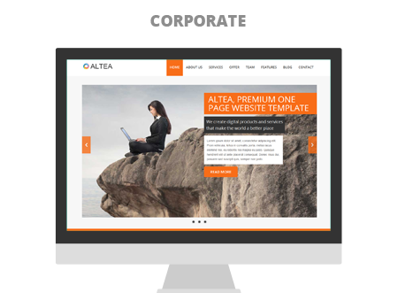 Altea One Page Paralax Html5 Css3 Responsive Bootstrap